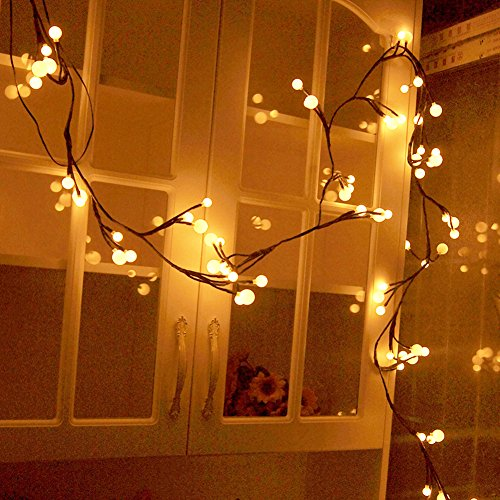 YINGXIANG 8.2Ft Globe String Light,UL Listed String Lights, Hanging Indoor/Outdoor Decorative String Light Garden,Wedding,Xmas Party,Patio, Backyard,Cafe,Party,Bedroom,Tapestry(Warm White)