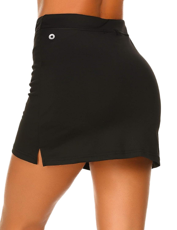 5a5ff6978b Ekouaer Women's Active Performance Skort Lightweight Skirt for Running  Tennis Golf Workout Sports