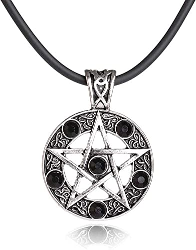 Pentagram Sabbatic Goat Head Pendant Necklaces Baphomet LaVey LaVeyan Satainism