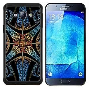 """Be-Star Único Patrón Plástico Duro Fundas Cover Cubre Hard Case Cover Para Samsung Galaxy A8 / SM-A800 ( Iglesia del vitral de la estrella Cristiano Dios"""" )"""