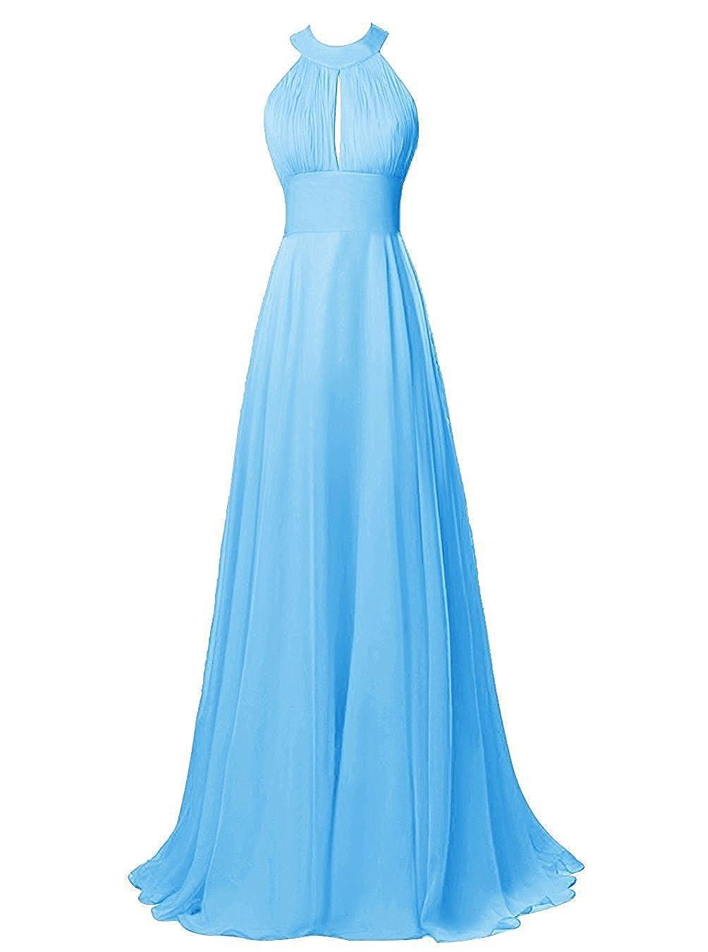 Judy Ellen Women Sleeveless A Line Long Evening Dress Prom Gown J105LF