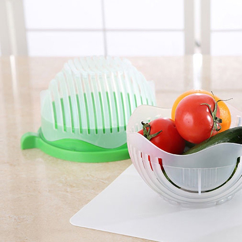 60 Second Salad Cutter Bowl, Salad Bowl, Salad Maker, Salad chopper, Salad Shooter, Salad Server-Make Your Salad in 60 Seconds by Imagine That