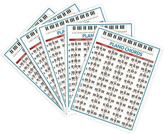 Rainai 88 Diagrama De Digitación De Piano Clave Cuadro De Acordes ...