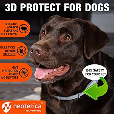 Rolf Club 3D FLEA Collar for Dogs – Flea and Tick Prevention for Dogs – Dog Flea and Tick Control for 6 Months – Safe Tick Repellent – Waterproof Tick Treatment …