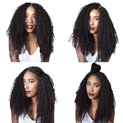 """Remeehi 12 """"-22"""" venta caliente Cabello humano pelucas Kinky Curl peluca Lace"""