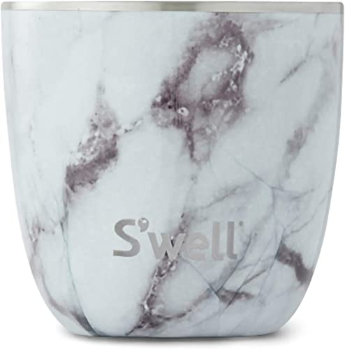 S'well Stainless Steel Tumbler-10 Fl Oz-White Marble Triple-Layered Vacuum-Insulated Containers Keeps Food and Drinks Cold and Hot