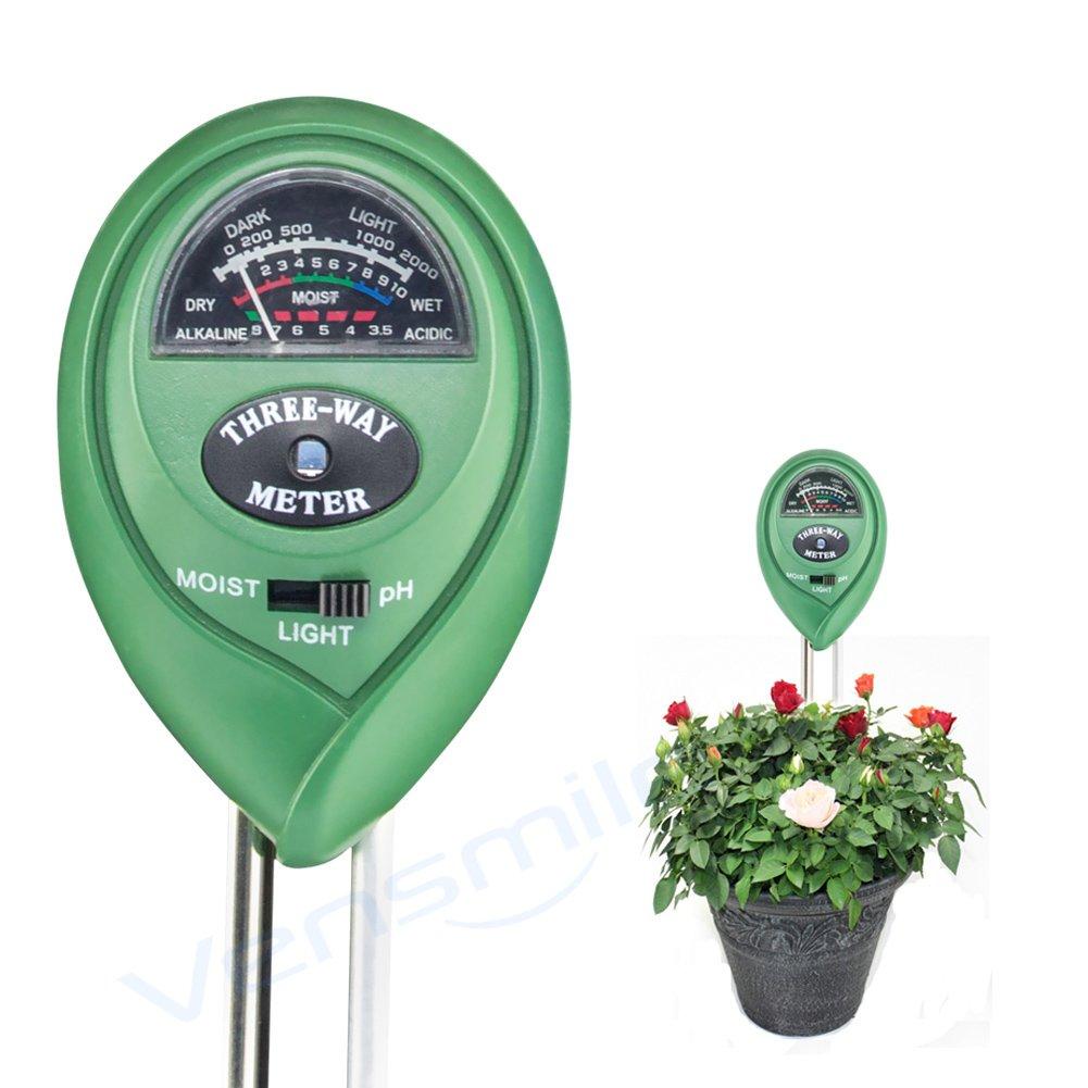 VENSMILE 3 in 1 土壌のPH/照度/水分検定 土壌測定器