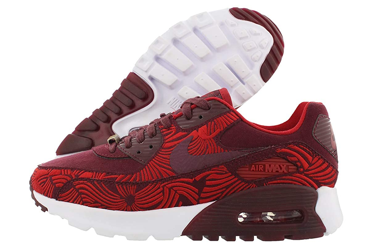 new style dec86 1ac9d Nike Women W Air Max 90 Ultra Lotc Qs Shanghai (Maroon / Night Maroon / Gym  Red / Night Maroon) 5 US