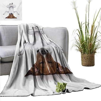 Amazon.com: Yoga Home Throw Blanket Dog Upside Down Relaxing ...