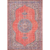 Momeni Rugs AFSHAAFS12RED2376 Afshar Traditional Medallion Area Rug x, 23 x 76 Runner, Red