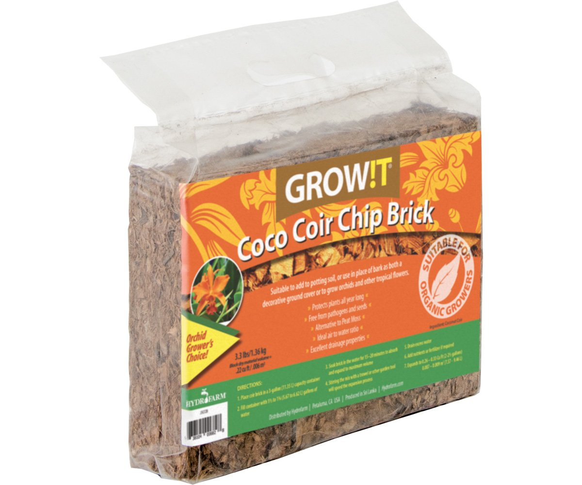 Plant!t JSCCB Coco Coir Chip Brick set of 3 Snow Joe Non-Branded Items
