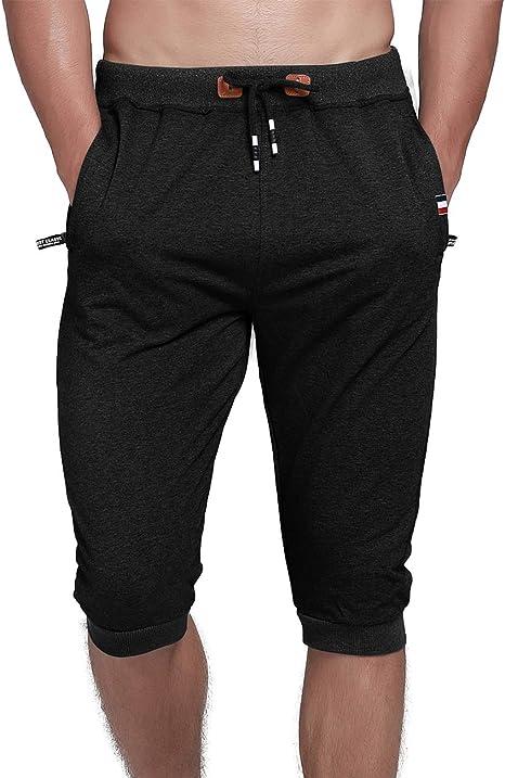 Amazon.com: YSENTO Pantalones cortos de algodón para hombre ...