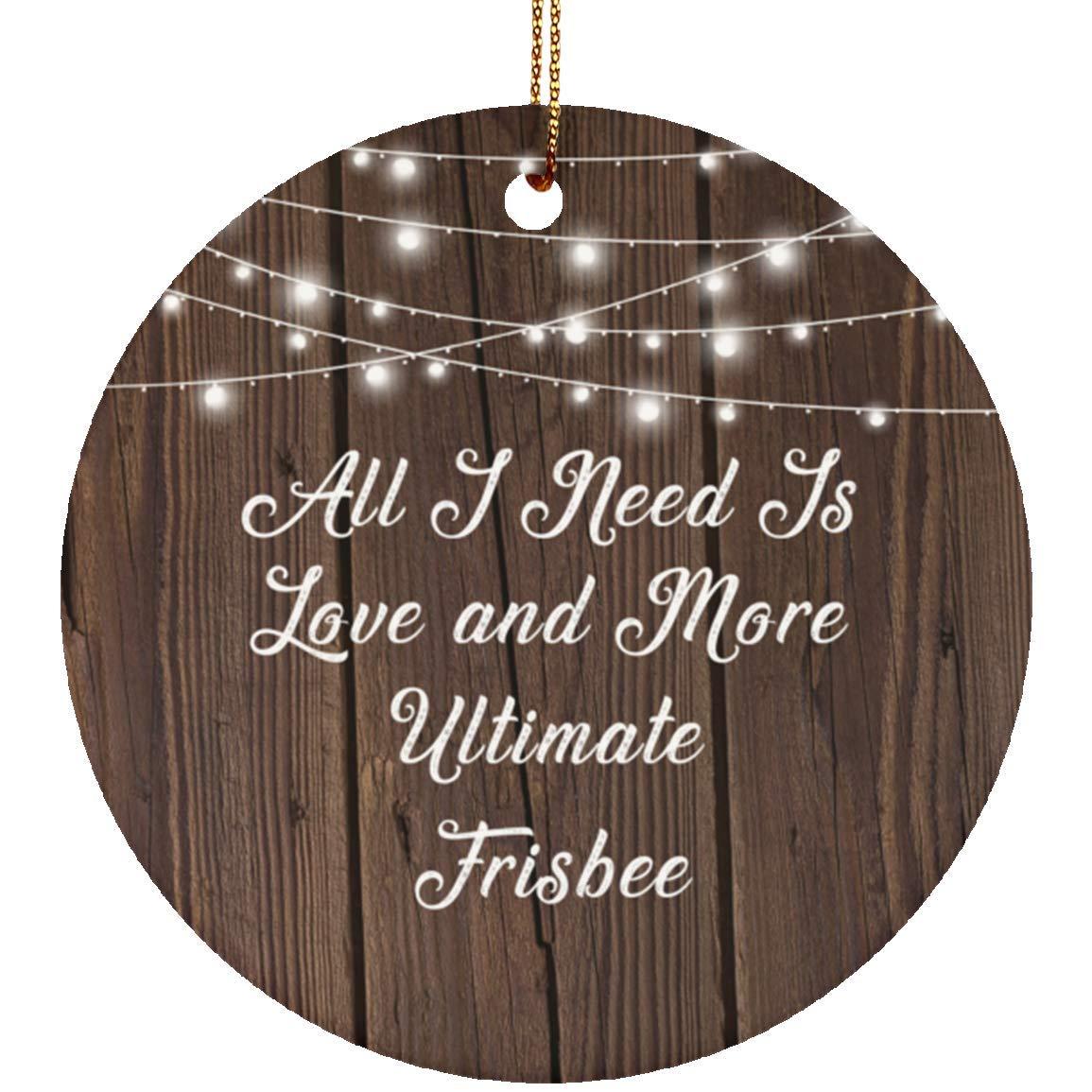 a43dac8b12b8e Amazon.com: All I Need is Love & More Ultimate Frisbee - Ceramic ...