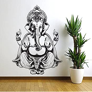 Vinyl Wall Decal Sticker Art Decor Bedroom Ganesh Elephant GOD OM Yoga  Buddha Mandala Ganapati Wall Decal
