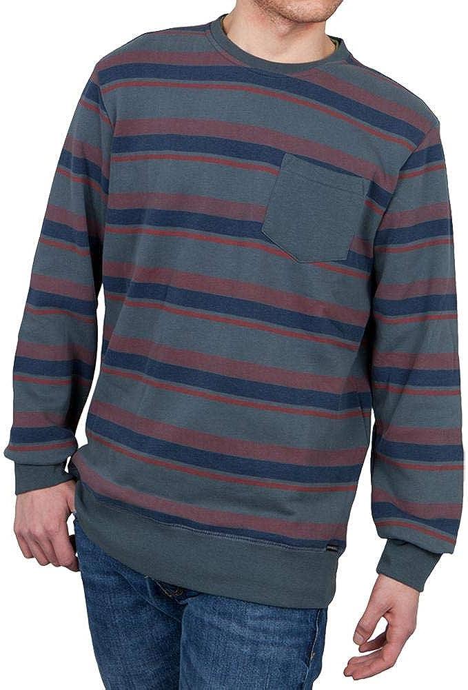 Medium ONeill Mens Bixby Stripe Pullover Top Slate