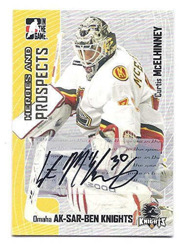 CURTIS MCELHINNEY 2005-06 ITG Heroes and Prospects #ACME AUTOGRAPH ROOKIE CARD RC Columbus Blue Jackets Ak-Sar-Ben Knights Hockey -