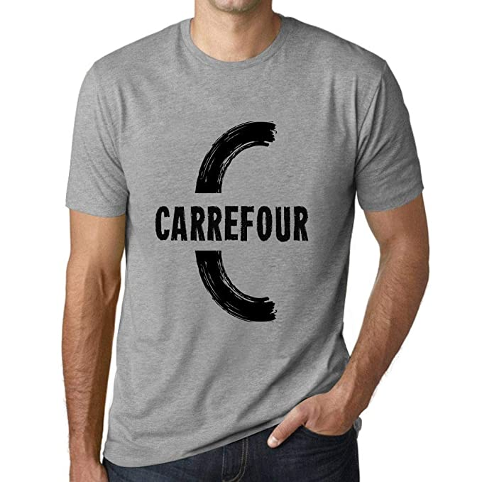 One in the City Hombre Camiseta Vintage T-Shirt Gráfico Letter C Countries and Cities Carrefour Gris Moteado: Amazon.es: Ropa y accesorios