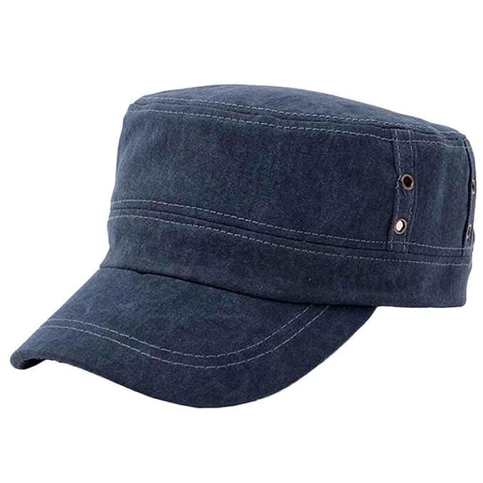 8c4967adc4658 UFACE Retro Farbhut Herren Baseball Cap Damenmode Shopping Radfahren Ente  Zunge Hut (Blau)