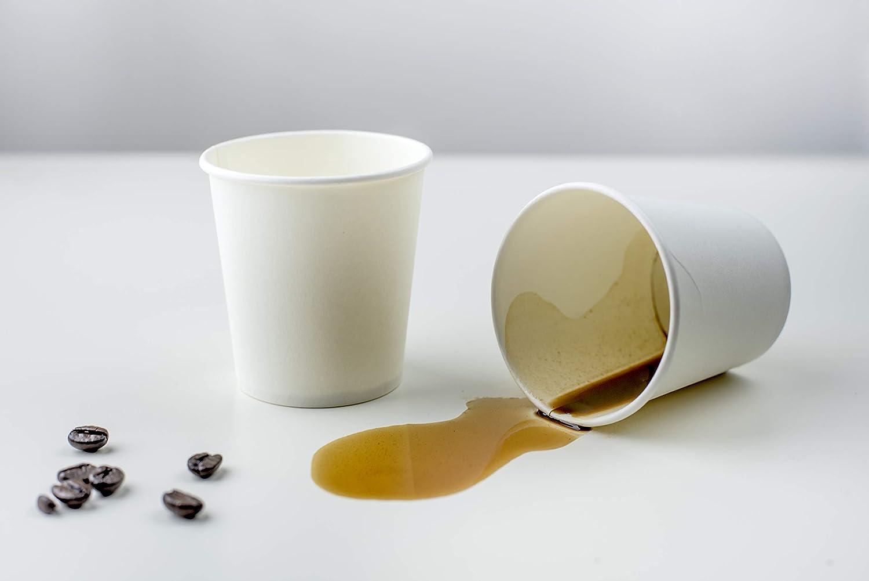 3 oz Biodegradable Cardboard Palucart 100 Paper Coffee Cups 90 ml White