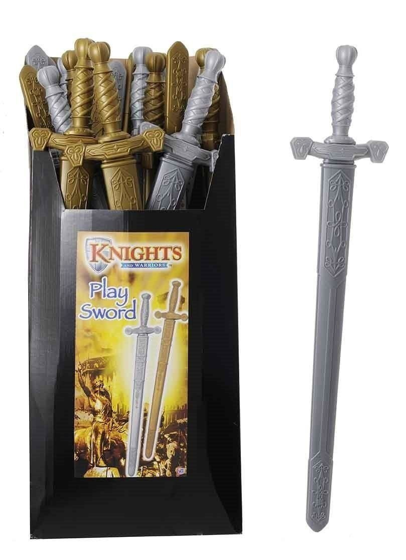 75cm Plastic Gladiator Sword -Role Play- Boys Dress Up - SILVER ONLY (HL158) HALSALLS