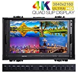 """SEETEC 4K280-9HSD-CO 28 Inch 4K Broadcast Monitor for CCTV Monitoring Making Movies Ultra HD Carry-on Director Monitors 28"""" 3840x2160 Portable Case LCD Monitor"""