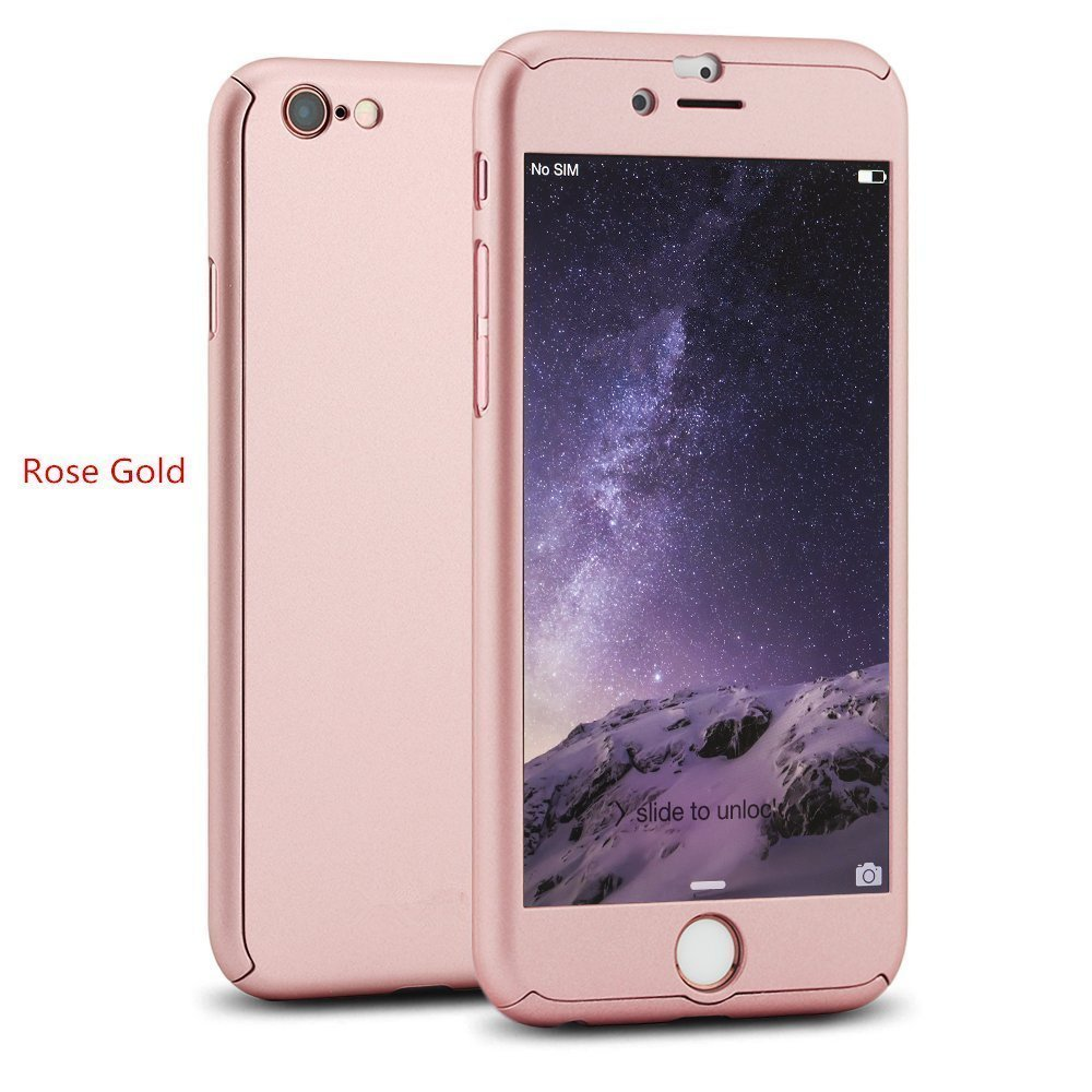CEDOR 360 Degree Full Body Protection Front Back Case Cover IPaky Style With Tempered Glass For Apple IPhone 6 6s Rose Gold Amazonin Electronics