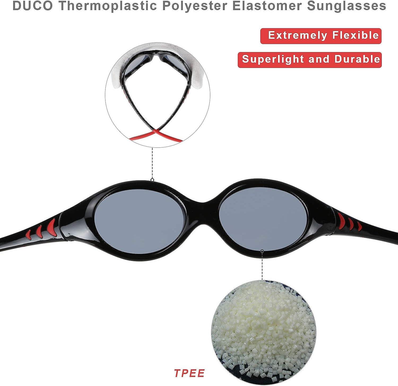 Duco Lunettes de soleil polaris/ées Enfants Monture flexible en TPEE pour gar/çons et filles 0 /à 5 ans K012