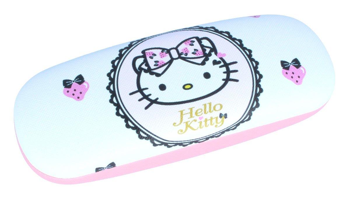 super Brillenetui für Kinder Hello Kitty mit Erdbeeren mit Metallscharnier nasenfahrrad24