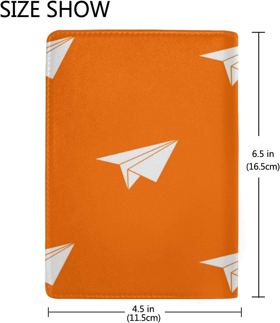 Colorful Paper Airplane Blocking Print Passport Holder Cover Case Travel Luggage Passport Wallet Card Holder Made With Leather For Men Women Kids Family