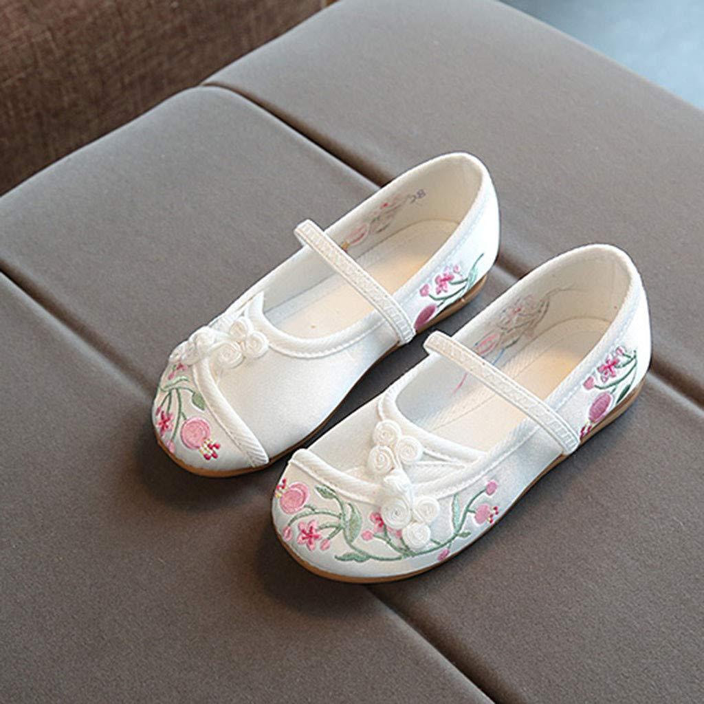 LIKESIDE Girl Ballet Non-Slip Toddler for Kid Infant White