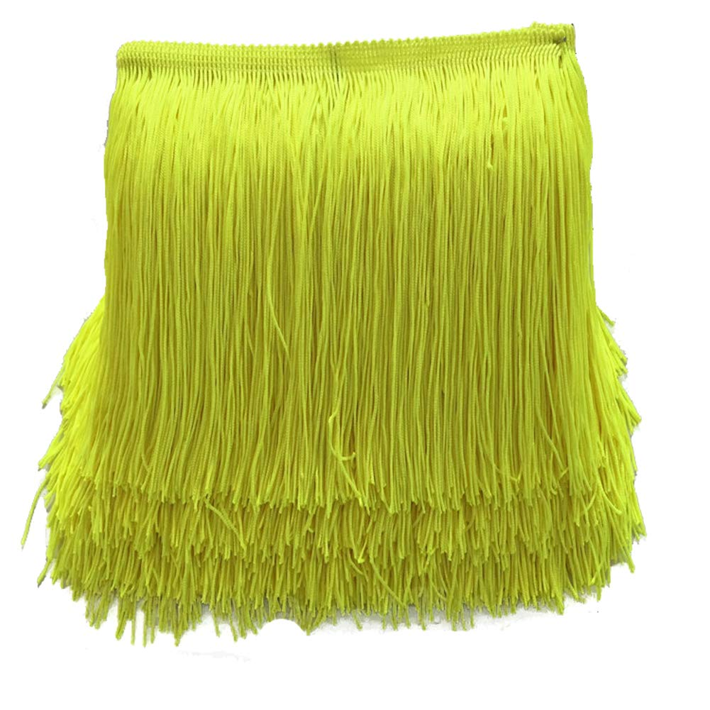 MIPPER 5 Yards of Polyester Fringe Trim 12 Inch Wide for Clothes Dress Dance Costume Sewing DIY Crafting Home Decoration