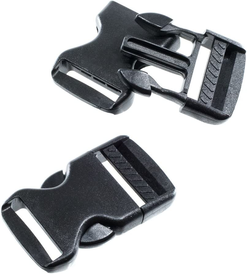 1//4 Plastic Curved Side Release Buckles for Paracord /& Crafting US SELLER