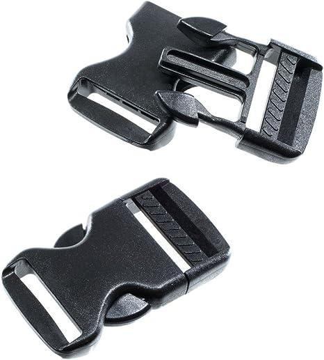 4PCS, Black Buckles 31mm Premium Plastic Buckles Side Release Buckles 1-1//4