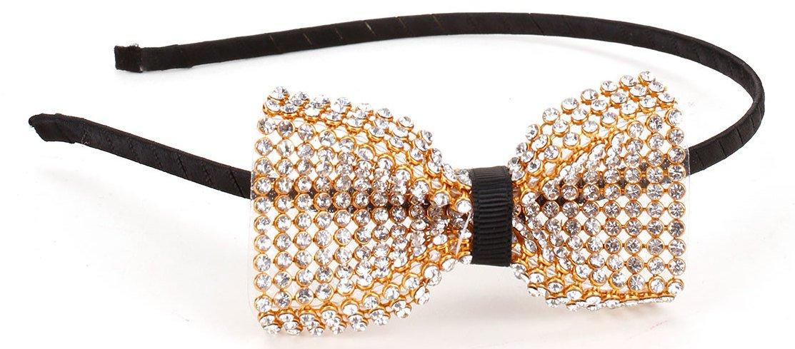 Amazon.com   Great Gatsby   Roaring 20s Flapper Inspired Handmade Rhinestone  Bow Headband   Hairband   Beauty d389f59d5b6
