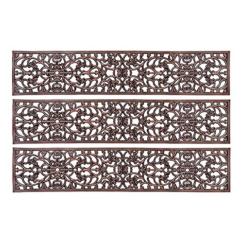 Cheap  Decorative Rubber Stair Treads Antique Copper Scroll 48