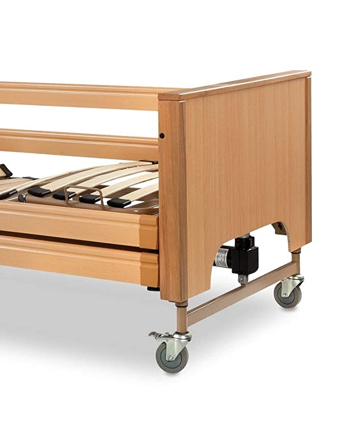 intermed – Cama Eléctrico De altura Variable con bordes de madera ...