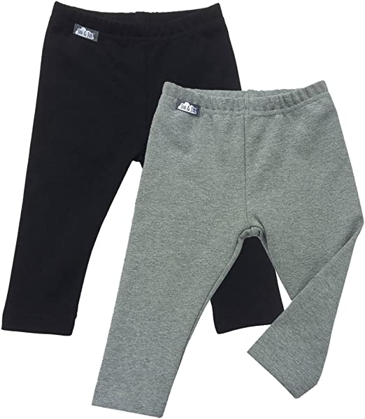 Winter Kids boys Girls cotton Warm Fleece Lined Thick Leggings Stretchy Pants