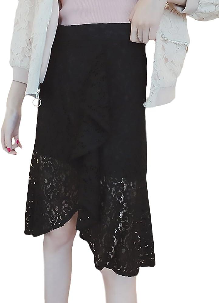 Falda Maxi Mujer Elegantes Primavera Otoño Alta Espumoso Cintura ...