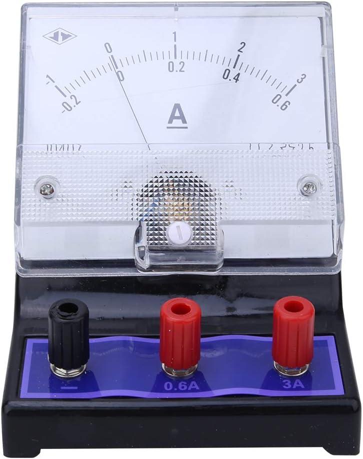Amp/èrem/ètre DC Amp/èrem/ètre /à Panneau analogique M/ètre de Courant /éducatif Physique 0~0.6A 0~3A 2.5 Accu