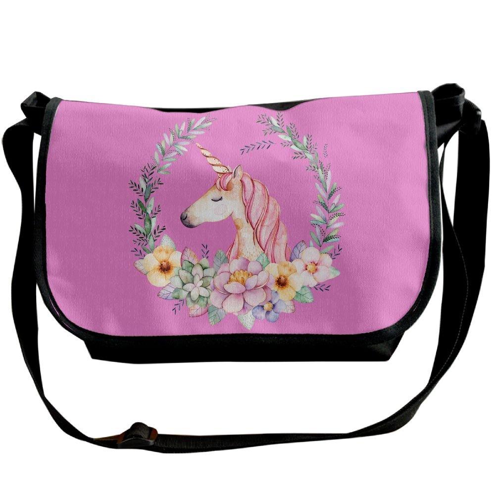 Linya's Pink Unicorn Unisex Printing Shoulder Bag Retro Casual Handbags Messenger Bags Crossbody Bags on sale