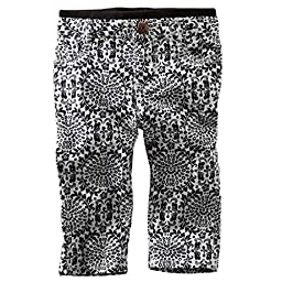 Oshkosh B\'gosh GIrls Black/White Crop Skinny Twill Pants (12 months)