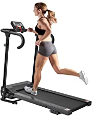 Cartkningts Treadmill Folding Running Machine Electric Motorized Treadmill for Home Exercise with 3 Level Incline, LED Display with Heart Rate Monitor