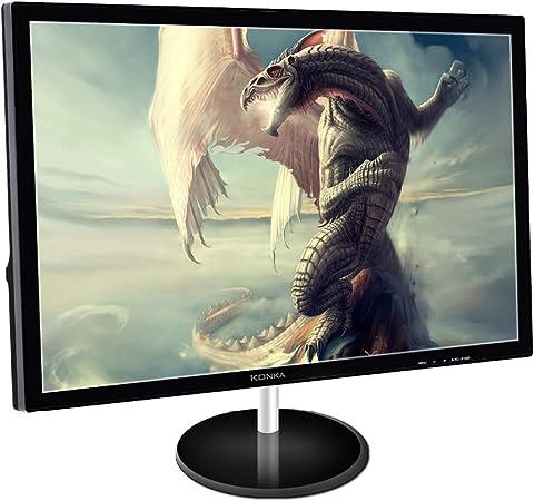RAPLANC 21,5 Pulgadas de Alta definición Ultra Delgado Monitor LED, HDMI y VGA entra, Soporte Ajustable, Libre de Parpadeo, productividad y Aplicaciones Multimedia,VGA+HDMI: Amazon.es: Hogar