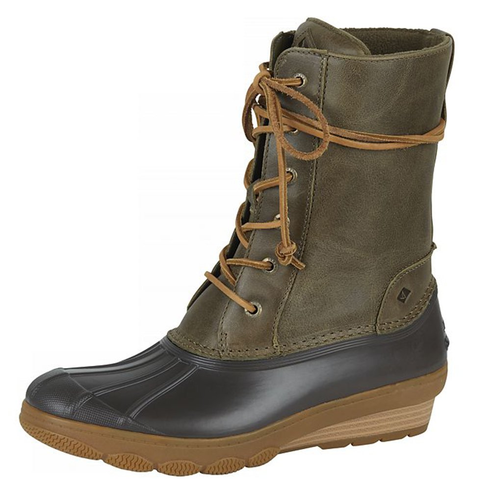 Sperry Top-Sider Women's Saltwater Wedge Rain Boot (9 B(M) US, Reeve Olive)