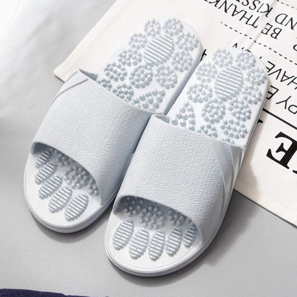 Wenhua Mujeres Zapatos de Piscina Chanclas de Playa,Sandalias sanitarias para Puntos plantares, Zapatillas de Masaje Antideslizantes en el baño, Light Blue_44-45,Zapatillas de Piscina cómodas