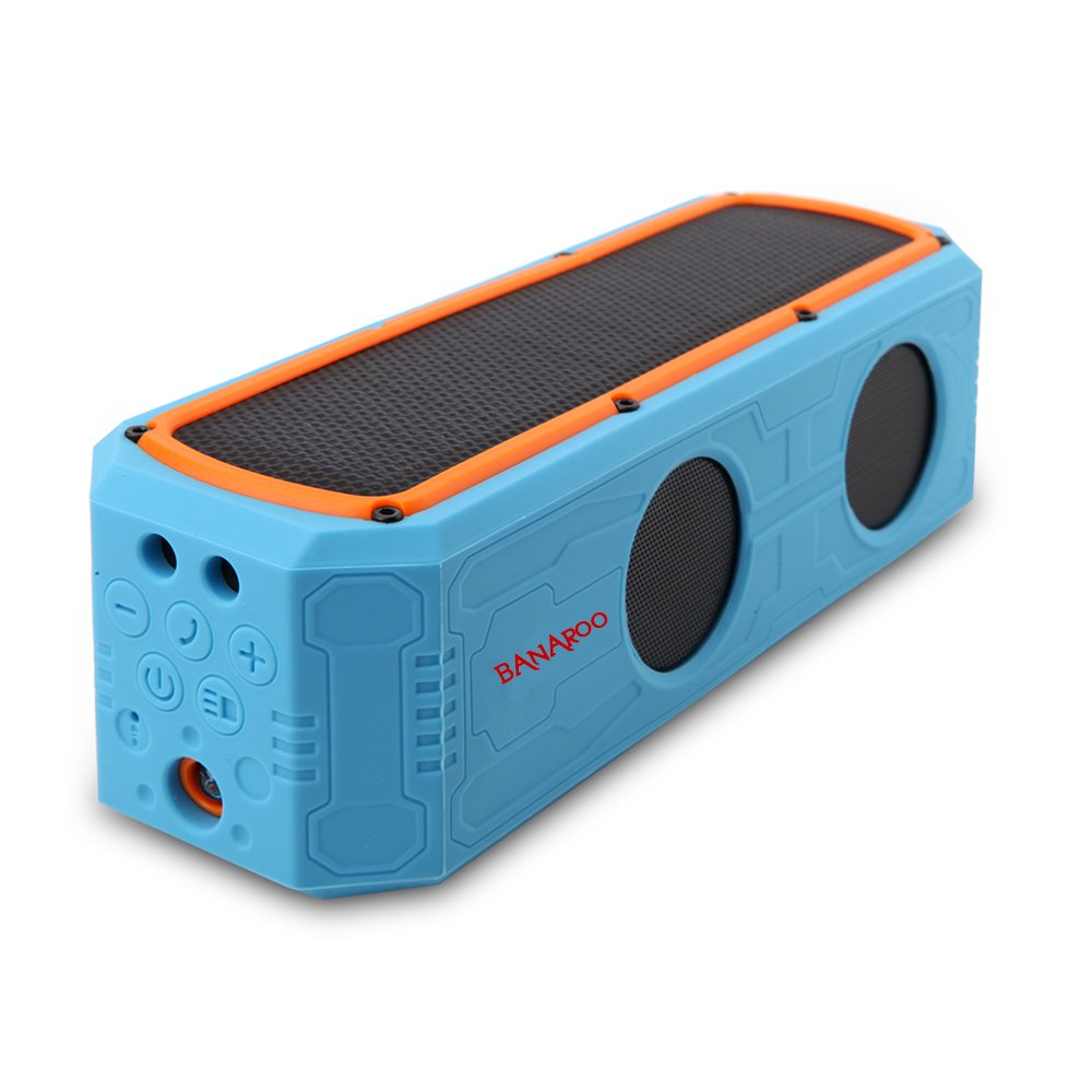 Solar Bluetooth Speaker with power bank, 55 Hours Playtime Bass Superior Sound Portable Wireless Speakers for cycling,Camping,Beach Outdoors Speakers waterproof by Banaroo