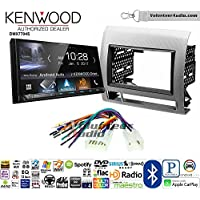 Volunteer Audio Kenwood DMX7704S Double Din Radio Install Kit with Apple CarPlay Android Auto Bluetooth Fits 2005-2011 Non Amplified Toyota Tacoma (Silver Textured)