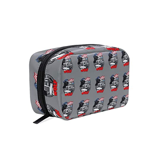 Amazon.com: Womens Travel Cosmetic Bags Vintage Route 66 ...