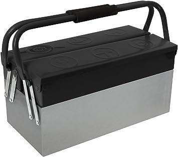 Cogex 405350 - Caja de herramientas metálica (3 compartimentos ...