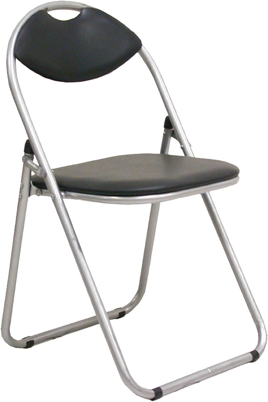 6 unidades de silla plegable acolchada negra de metal con respaldo curvo Artico para invitados, oficina, reuniones, salón, cocina, casa o camping